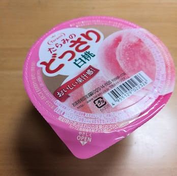 Japanese jelly of peach
