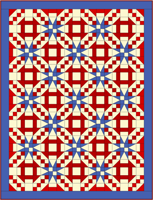 Churn Dash and Stars - Free Quilt Pattern