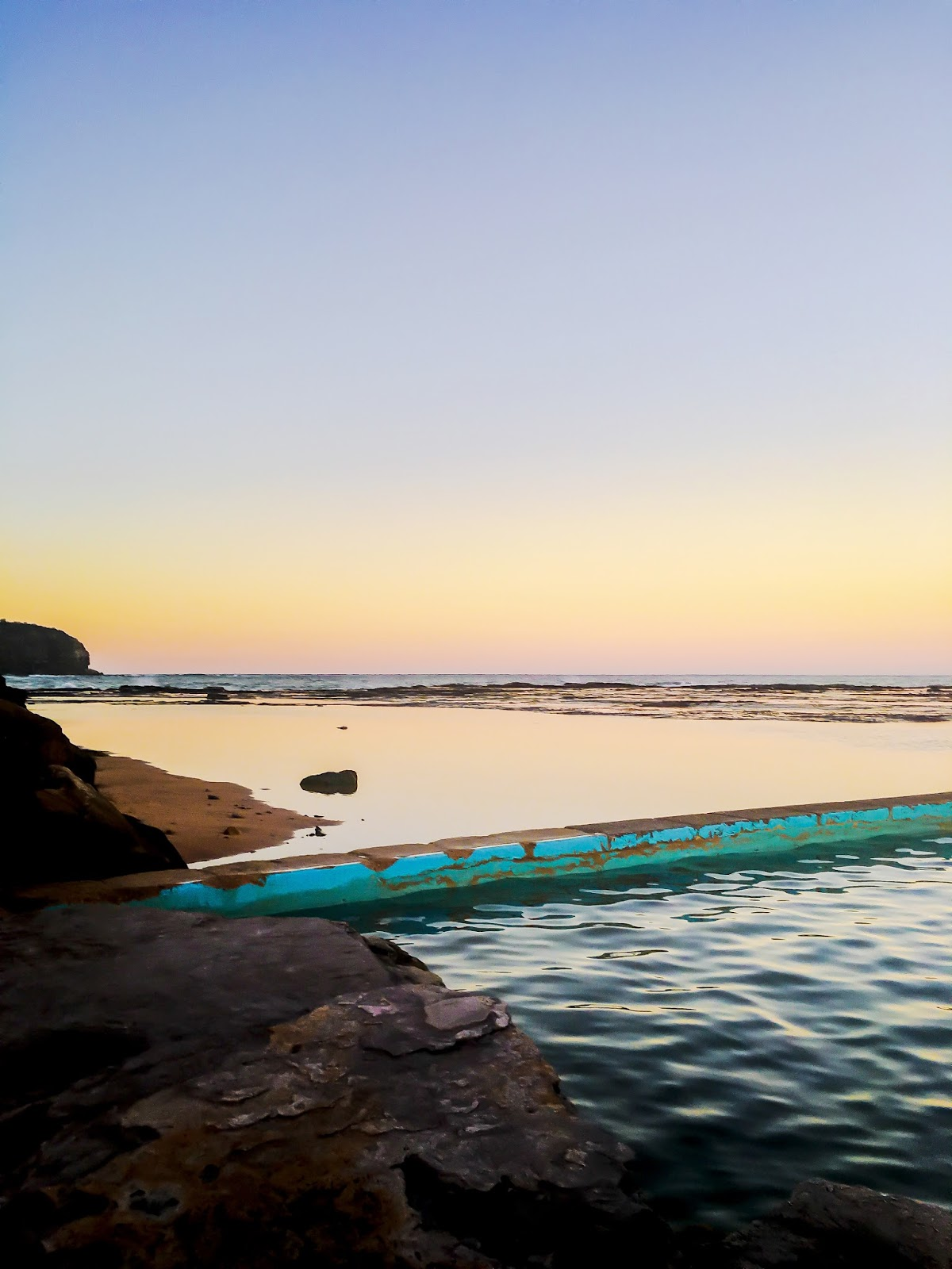 Sunset in Narrabeen Rockpool, Sydney