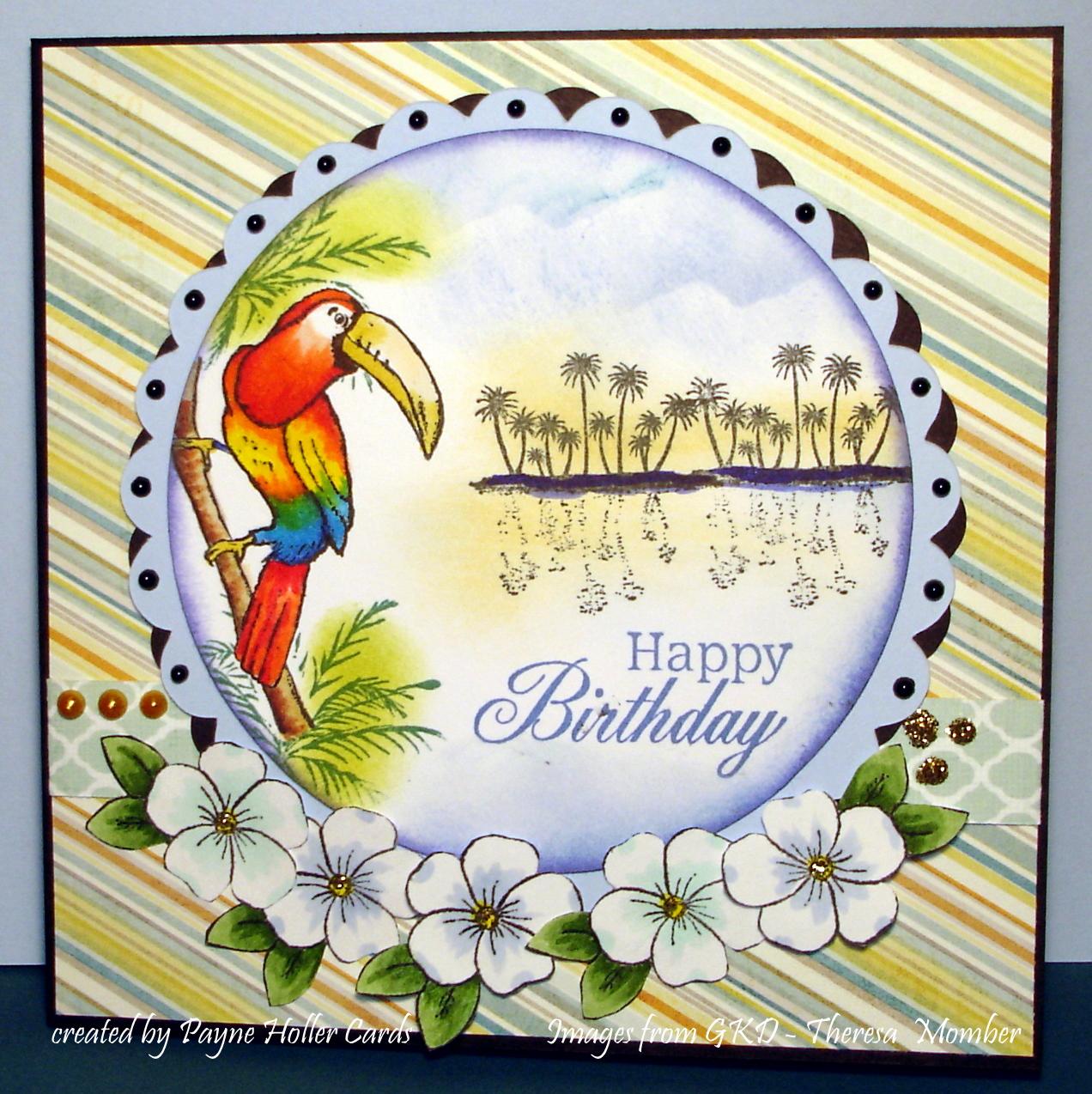 Payne Holler Cards: Tropical Birthday