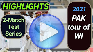 Pakistan tour of West Indies 2-Match Test Series 2021