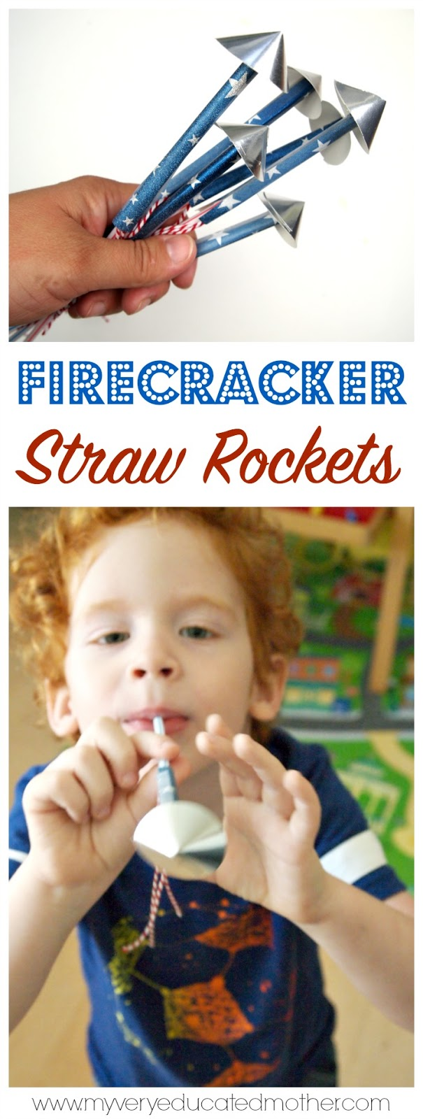 Kids like spitting things, it's a fact of life. Keep it clean and fun with these firecracker straw rockets!