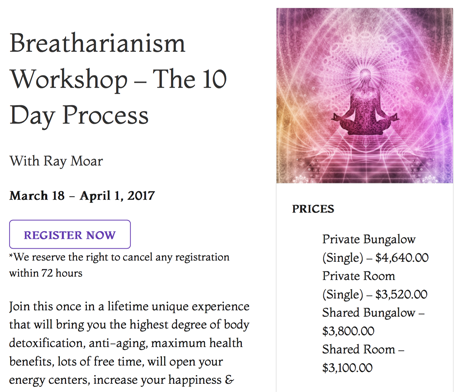 breatharian food retreat 120416