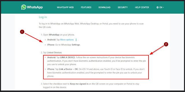 tips login wa web di android dan iphone
