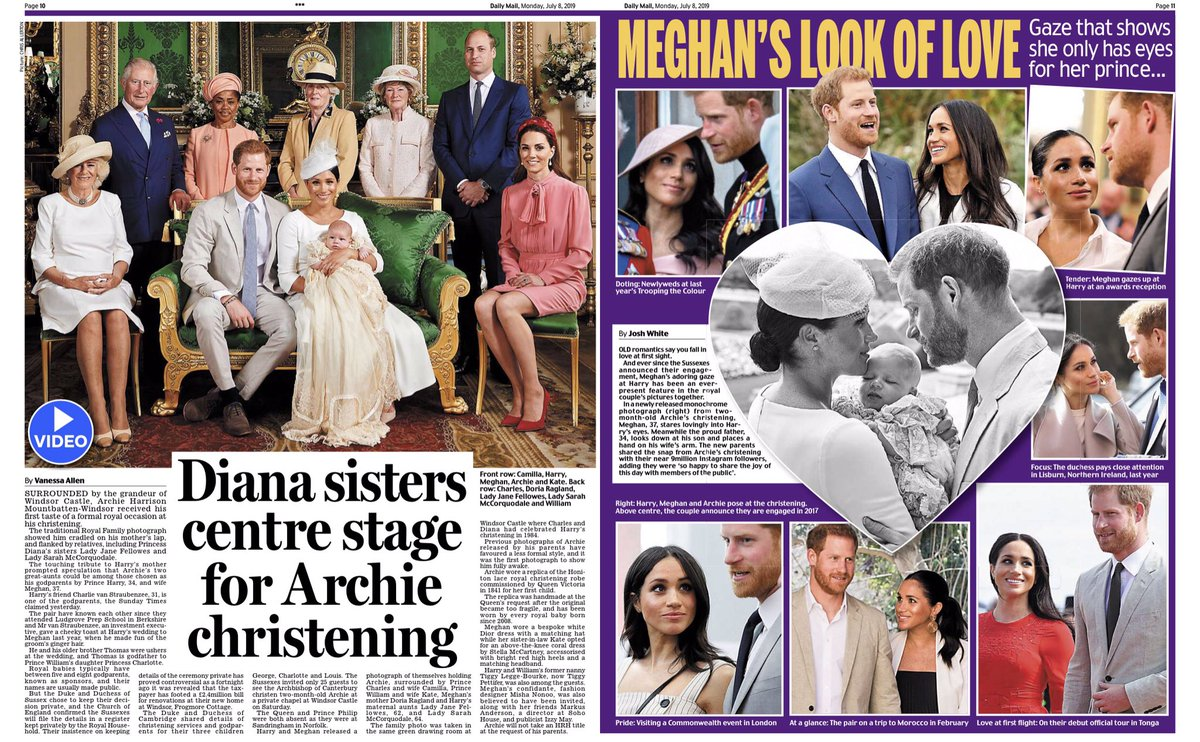 Royal-related Stories in Today's Daily Mail, July 8