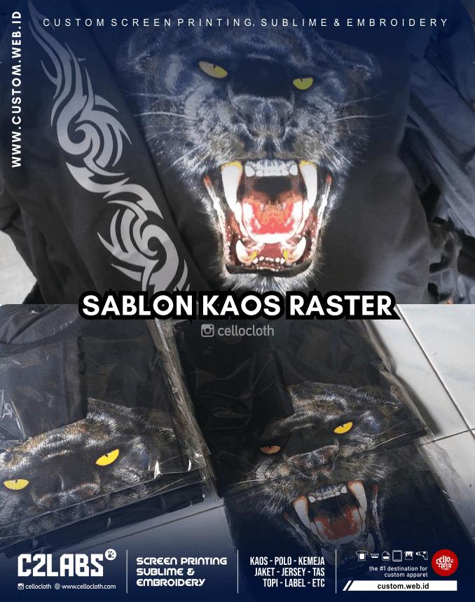 Sablon Kaos Raster Separasi Spot Color - Sablon Kaos Online