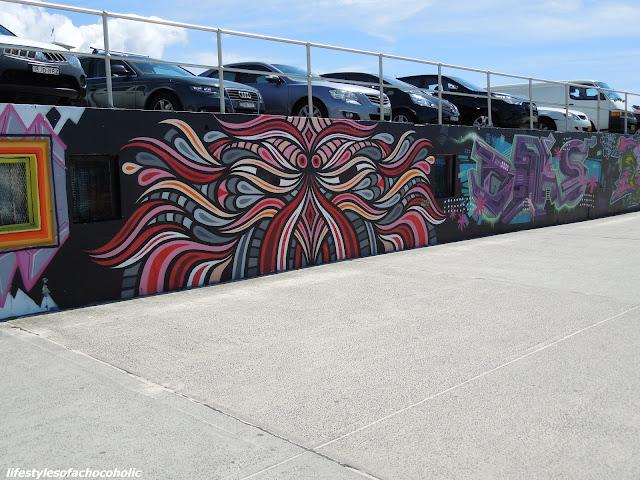 street art wall on Bondi beach australia