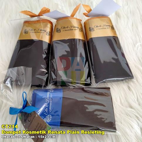 Dompet Kosmetik Renata Plain Resleting