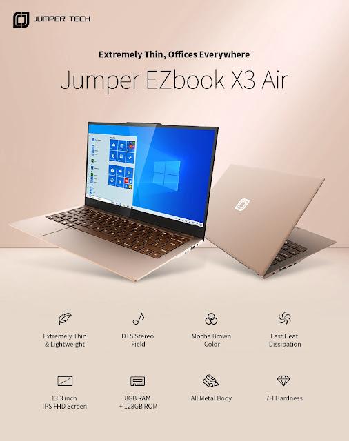 Jumper EZbook X3 Air - Um portátil a pensar na produtividade