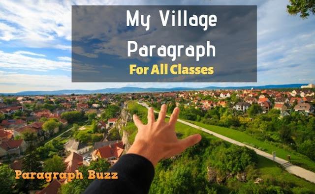 My Village Paragraph