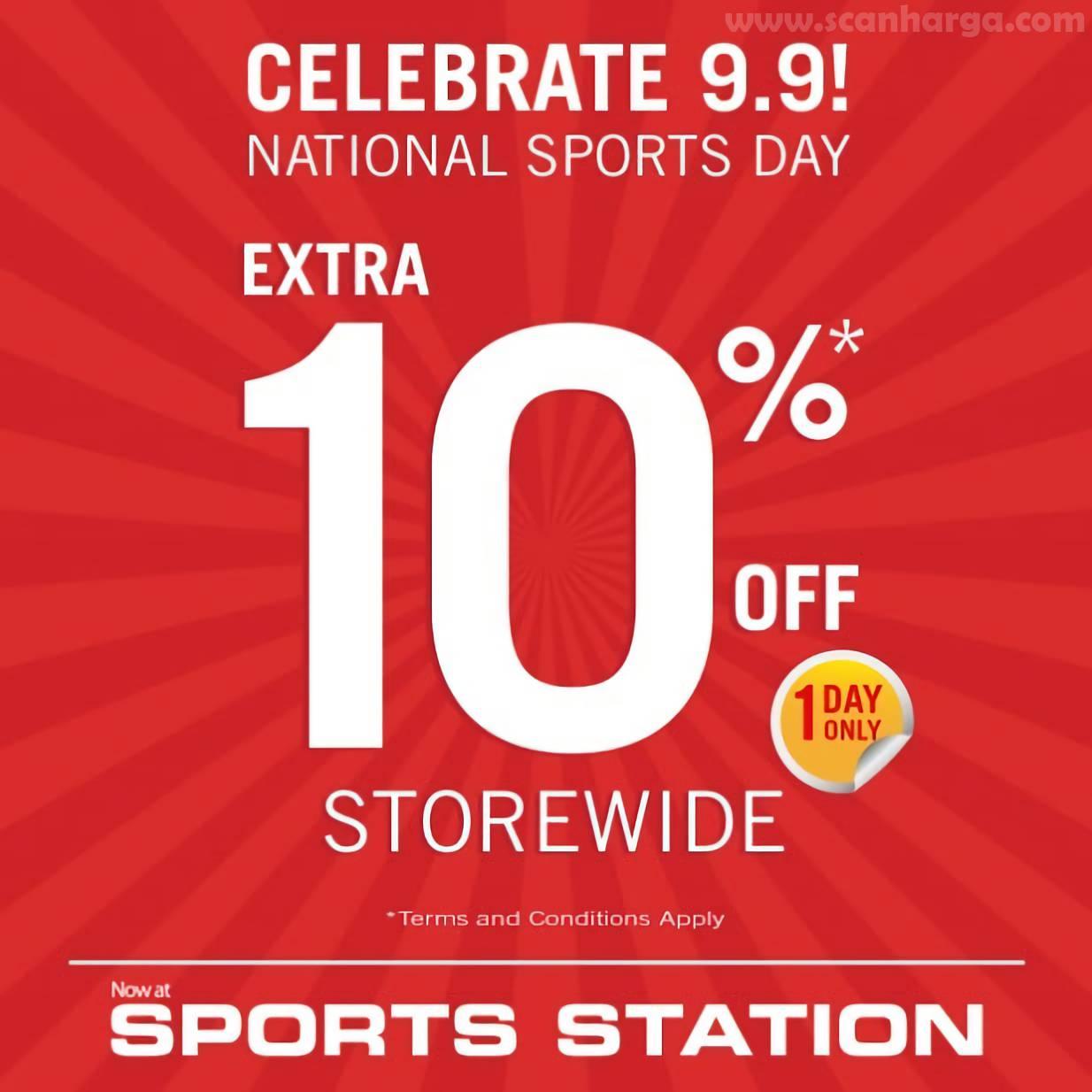 Promo Sports Station 9.9 – HANYA 1 HARI! Extra Diskon 10%*