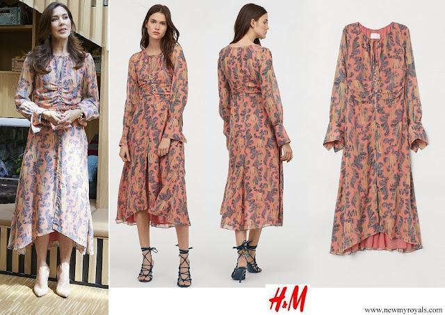 Crown Princess Mary wore H&M silk dress