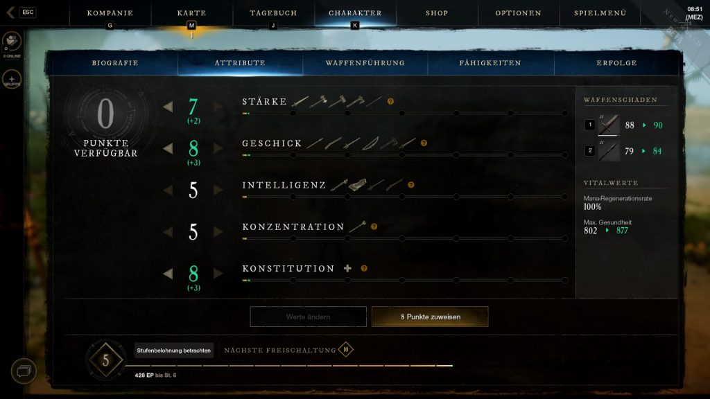 You can assign your attribute points to the attributes individually