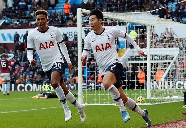 Video Cuplikan Gol: Aston Villa 2-3 Tottenham Hotspur (Premier League)
