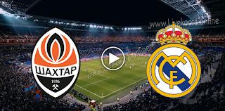 مشاهدة مباراة ريال مدريد وشاختار دونيتسك بث مباشر بتاريخ 21-10-2020 في دوري أبطال أوروبا