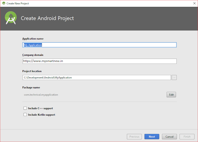 Start android App Development