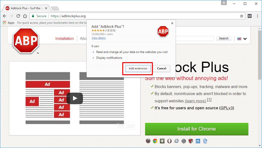 Adblock Iklan Chrome
