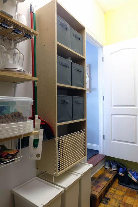 custom floating shelf unit pantry storage