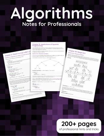 Algorithms Notes for Professionals book