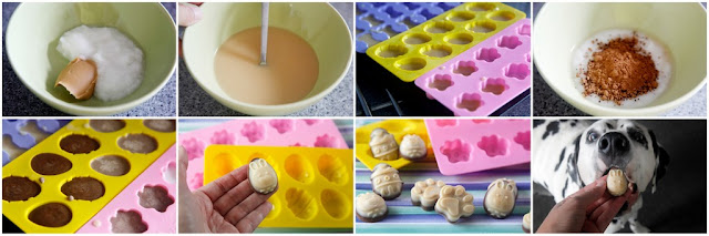 Step-by-step making Easter treats for dogs