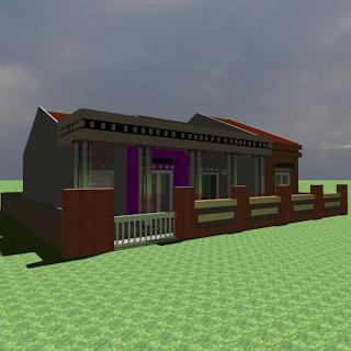 berbagi contoh desain rumah: rumah satu lantai ukuran 12 x 10