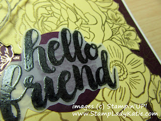 Sentiment closeup uses Stampin'UP!'s Seriously the Best stamp set