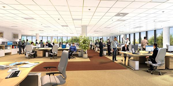 Thiết kế văn phòng mở được nhiều doanh nghiệp hướng đến