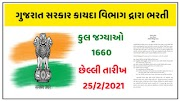 Government of Gujarat Law Department Recruitment for 1660 Posts @legal.gujarat.gov.in