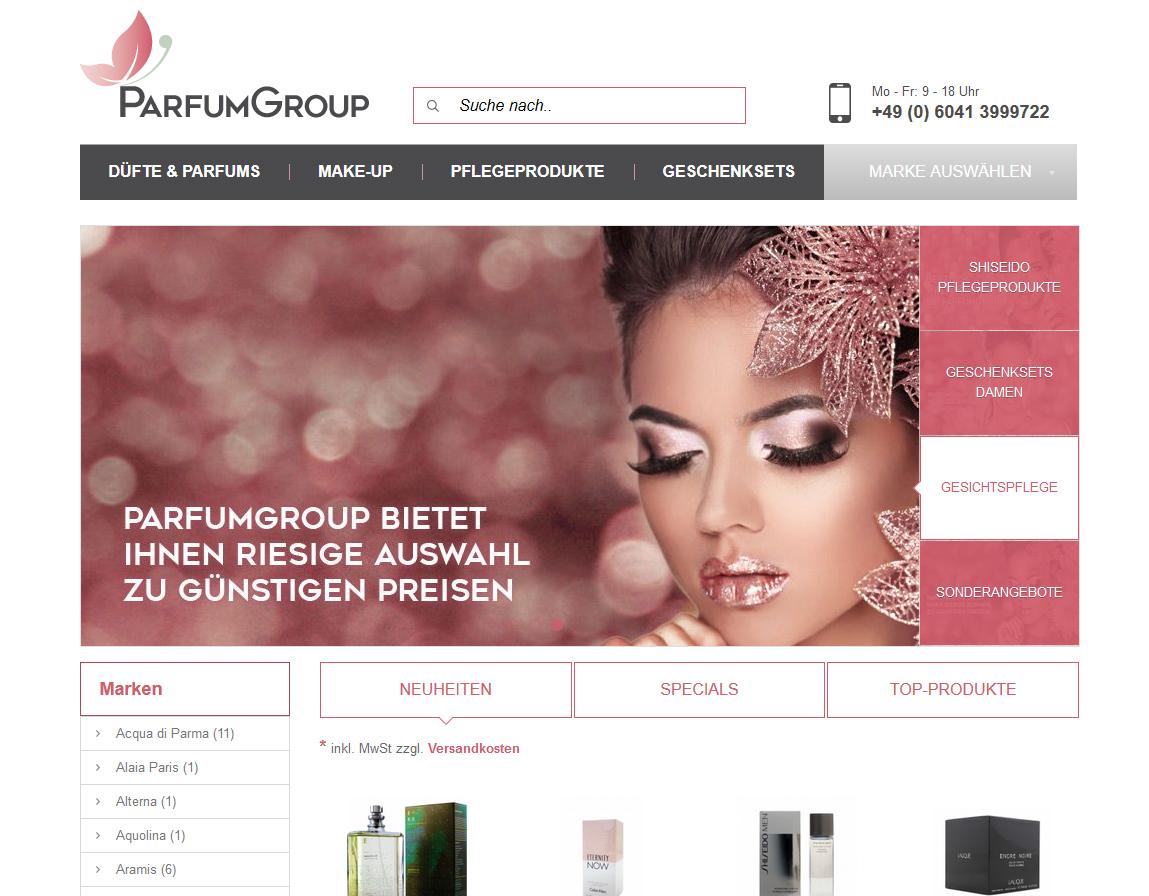 ParfumGroup - Onlineshop