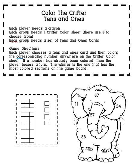 Free Worksheets » Place Value Tens And Ones Worksheets First Grade ...