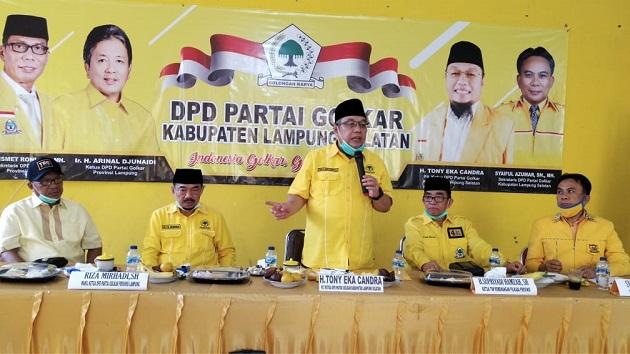 Jabat PLT Golkar Lamsel, TEC Gelar Rapat Pleno Diperluas