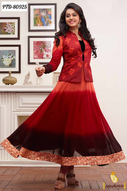Bollywood actresses in designer anarkali salwar suits online shopping at pavitraa
