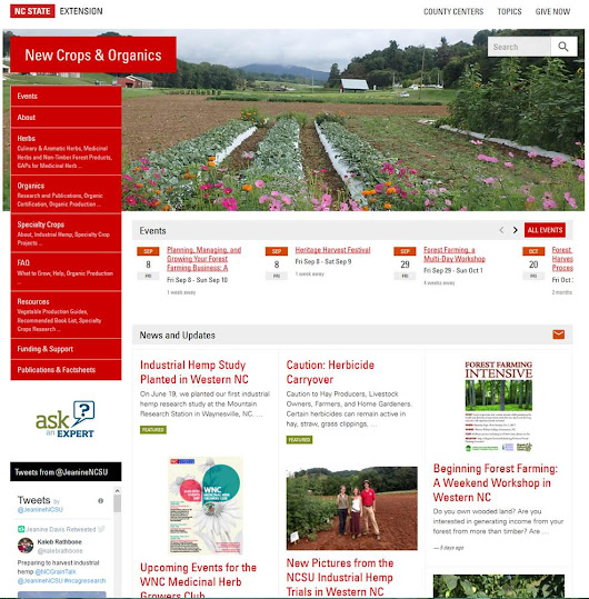 NC Alternative Crops and Organics: Jeanine's blog is moving! Please follow on my new site