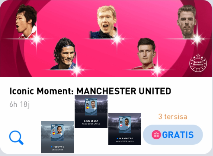Hasil Nge-roll Iconic Moment Manchester United Di PES 2021