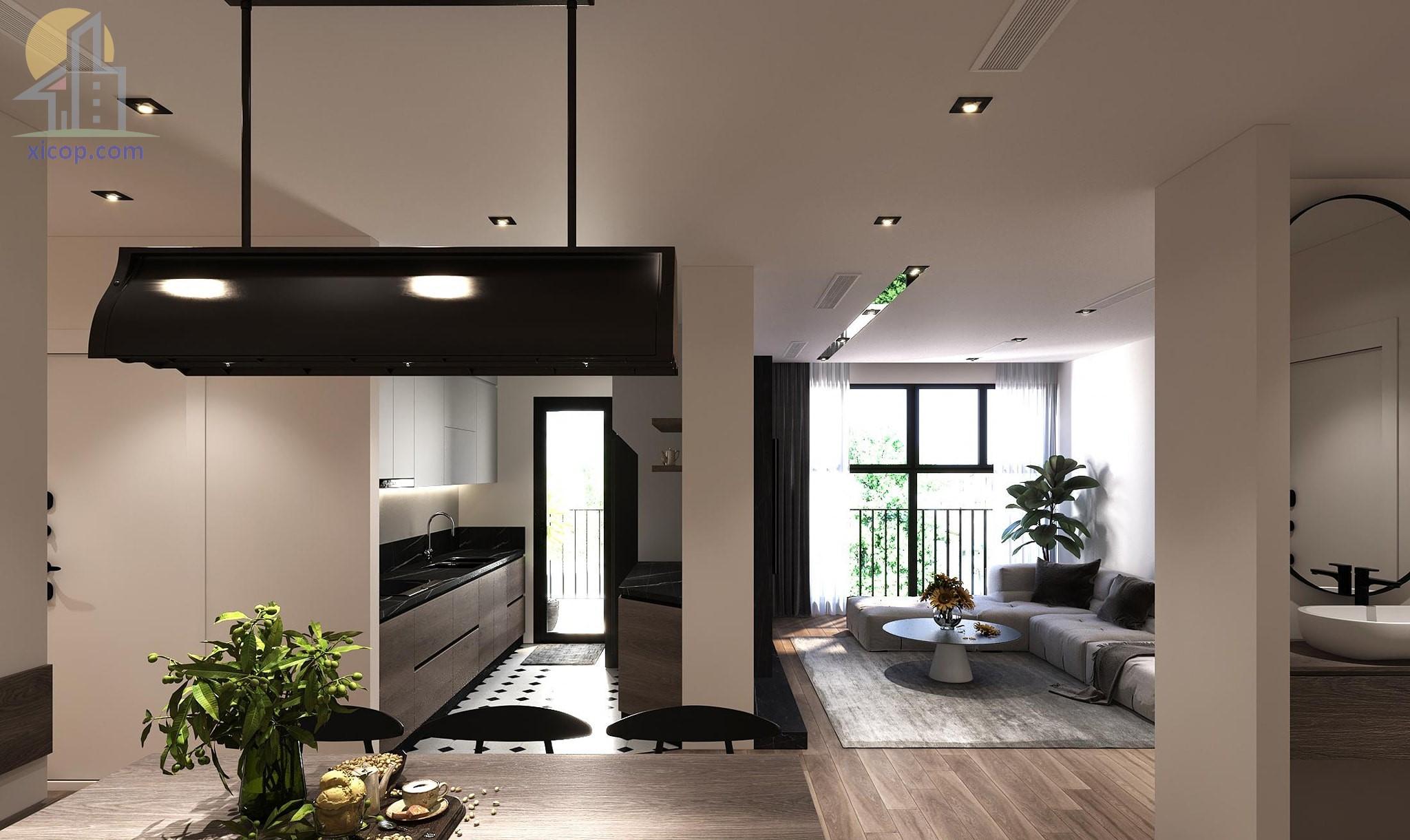 Phong cách thiết kế nhà phố hiện đại nội thất đẹp 08