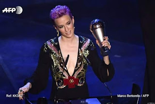 Megan Rapinoe Named FIFA Best Women's Player of the Year