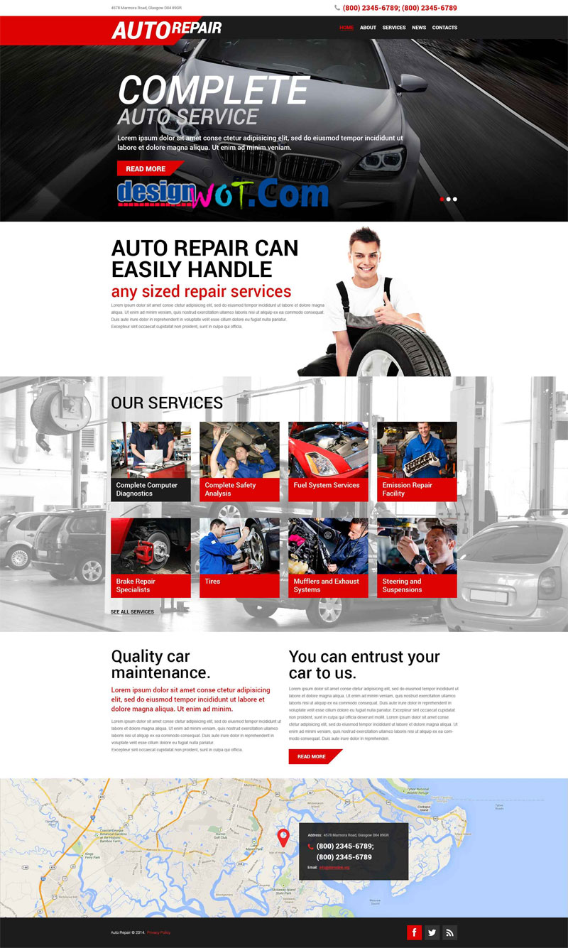 AutoRepair Responsive WordPress Theme