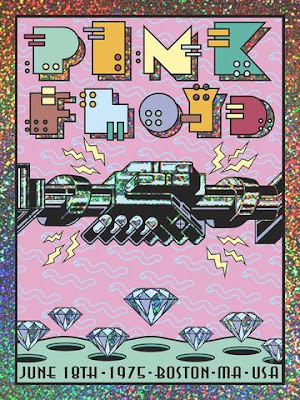 "Pink Floyd ""June 18, 1975 Boston, MA"" Screen Print Frank Kozik x ECHO"