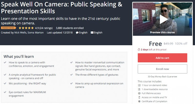 [100% Off] Speak Well On Camera: Public Speaking & Presentation Skills| Worth 49,99$