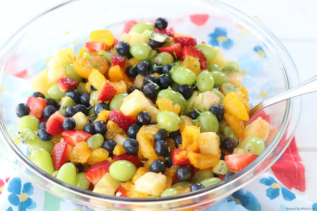 Big Bowl of Honey Lime Fruit Salad recipe from Served Up With Love