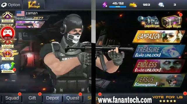 تحميل لعبة جن وار شوتينج جيم Gun War Shooting Games للاندرويد والايفون
