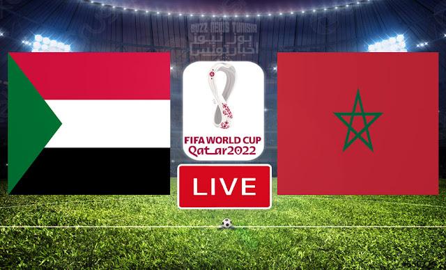 Match Morocco vs Sudan Live Streaming FIFA World Cup Qatar 2022 Qualifier