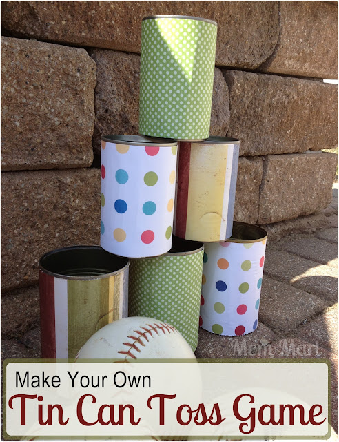 DIY Tin Can Toss Game