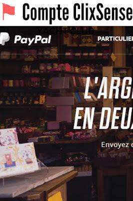 Désormais pas de Compte Paypal pour ClixSense
