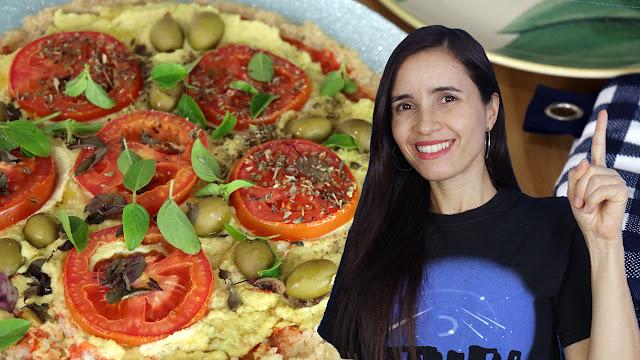 Arroz velho sobrou? Faça pizza de um ingrediente! Saudável, vegana e sustentável