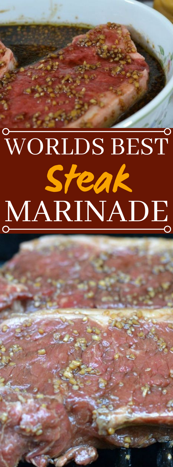 Worlds Best Steak Marinade #dinner #steak