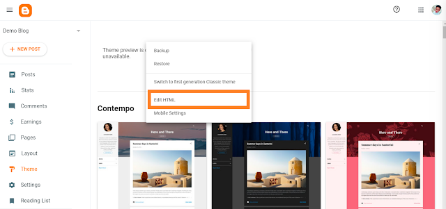 How to install blogger template 2020 step 6