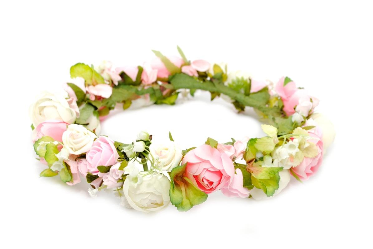 Ptaszarnia kwiatowy wianek ślubny Cherubinów