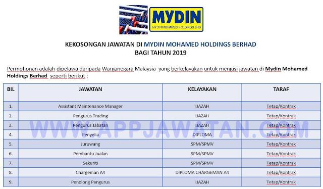 Mydin Mohamed Holdings Berhad.