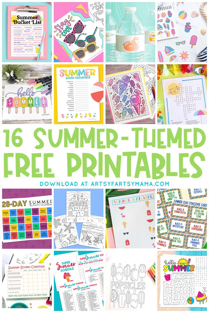 16 FREE Summer Printables